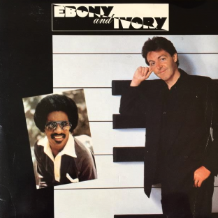 "Paul McCartney With Stevie Wonder ‎- Ebony And Ivory (7"") (VG-/VG-)"